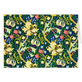 Notecard-Vintage Fabric Fashion-William Morris 21 Cards