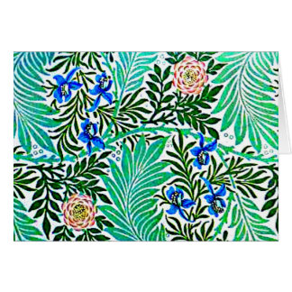 Notecard-Vintage Fabric Fashion-William Morris 27 Greeting Card