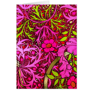 Notecard-Vintage Fabric Fashion-William Morris 30 Cards