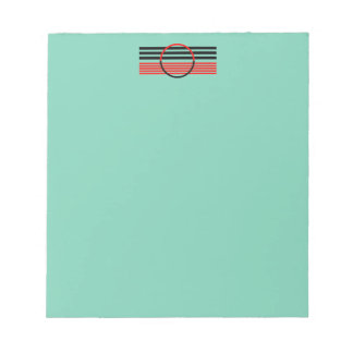 Notepad with Customized Art Deco Design Header