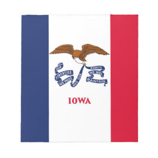 Notepad with Flag of Iowa State