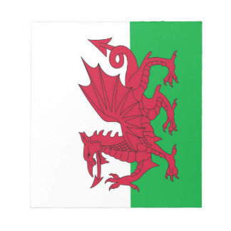Notepad with Flag of Wales