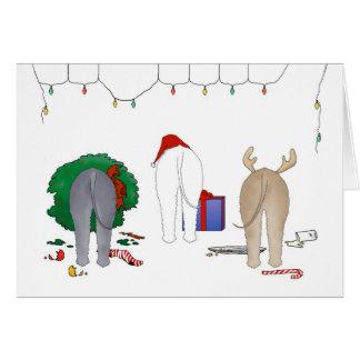 Nothin' Butt A Bedlington Christmas Card