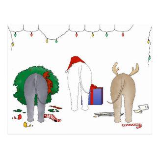 Nothin' Butt A Bedlington Christmas Postcard
