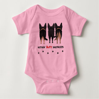 Nothin' Butt Shepherds Baby Bodysuit