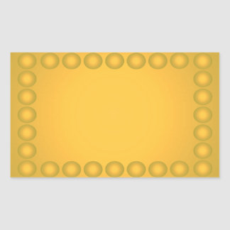 Nothing But Color Everything Gold Business Cards 3 Rectangular Sticker