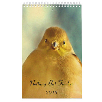 Nothing But Finches Calendar 2013