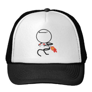 Nothing To Do Here Jet Pack Guy Cap