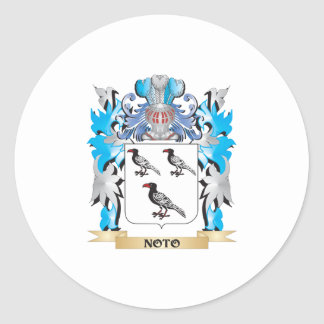 Noto Coat of Arms - Family Crest Round Sticker