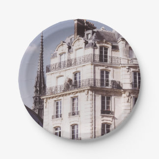 Notre Dame and Parisian Architecture 7 Inch Paper Plate