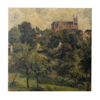 Notre Dame des Agnes by Paul Gauguin Tile