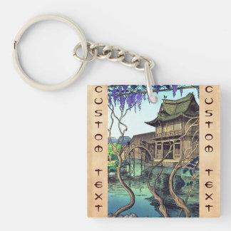 Nouet Noel Kameido shin hanga japanese scenery Key Ring