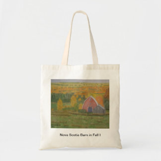 Nova Scotia Barn in Fall I Tote Bag