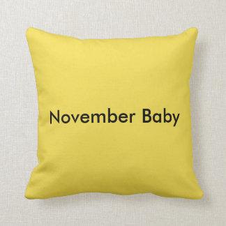 November Baby throw pillow