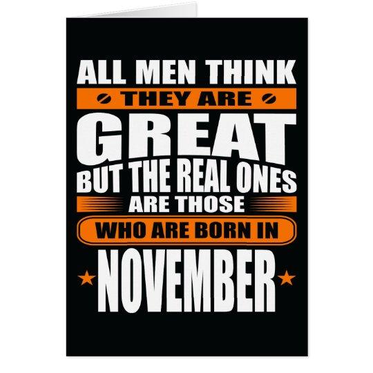 November Birthday (Add Your Text) Card