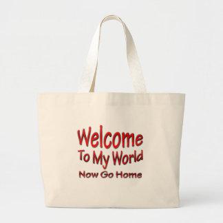 Now Go Home red Bag