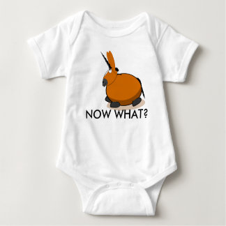 "NOW WHAT? with ""Vector The Mule"" Baby Bodysuit"