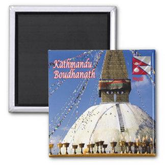 NP - Nepal - Kathmandu - Boudhanath Square Magnet