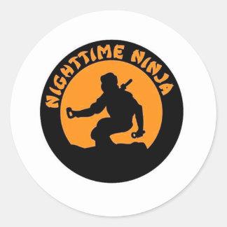 NtNinjaOriginal.gif Classic Round Sticker