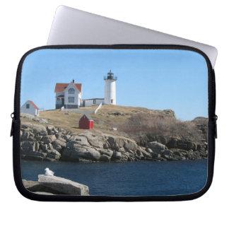 Nubble Light Cape Neddick Maine Laptop Sleeve
