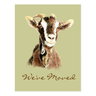 Nubian Brown Goat Farms Address New Home Postcard