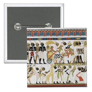 Nubian chiefs bringing presents 15 cm square badge