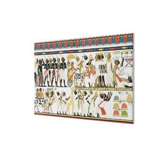 Nubian chiefs bringing presents canvas print