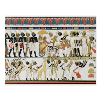 Nubian chiefs bringing presents post card