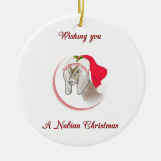 Nubian Christmas Goat  Ornament