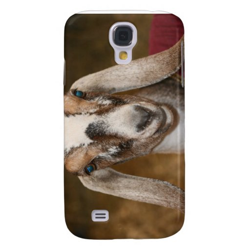 Nubian Dairy Goat Doe White Stripe Caprine Galaxy S4 Cases