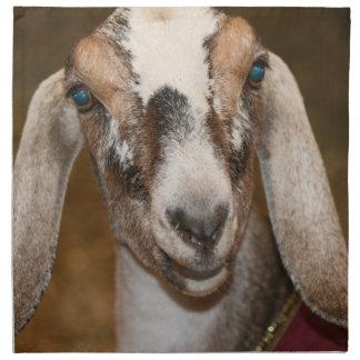 Nubian Dairy Goat Doe White Stripe Caprine Napkin