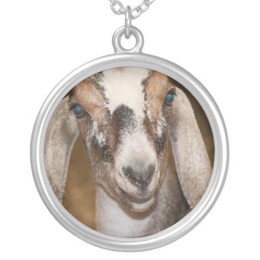 Nubian Dairy Goat Doe White Stripe Caprine Custom Necklace