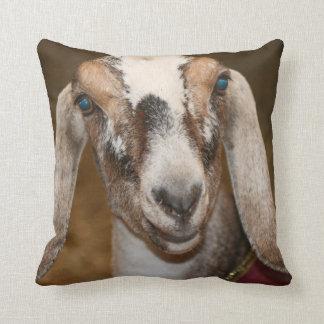 Nubian Dairy Goat Doe White Stripe Caprine Throw Cushion