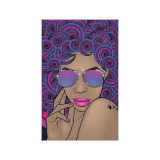 Nubian Diva Wrapped Canvas Stretched Canvas Print