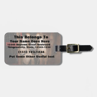 Nubian doe head on getting out of gate luggage tags