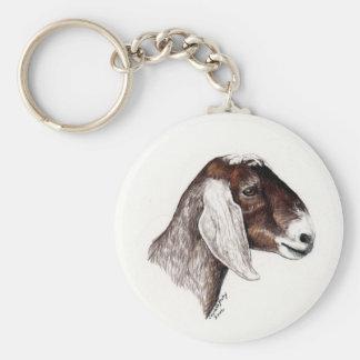 """Nubian Goat"" Animal Art Keychain"