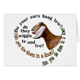 NUBIAN GOAT - DO YOUR EARS HANG LOW? GREETING CARD