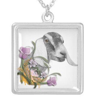 Nubian Goat Floral  Necklace