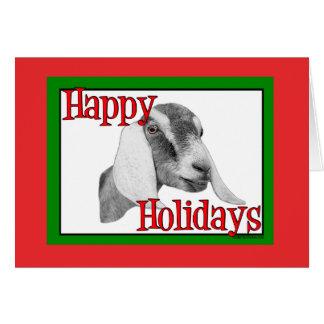 Nubian Goat Holiday Christmas Greeting Card