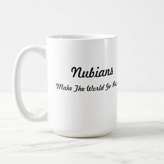 Nubian Head in Heart Basic White Mug