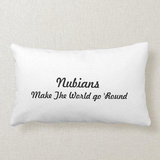 Nubian Head in Heart Throw Pillow