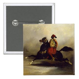Nubian Horseman at the Gallop 15 Cm Square Badge