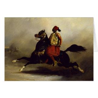 Nubian Horseman at the Gallop Greeting Card