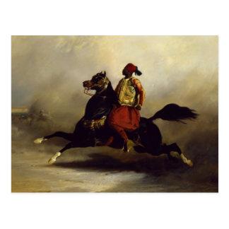 Nubian Horseman at the Gallop Postcard