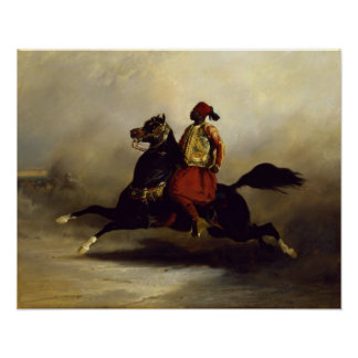 Nubian Horseman at the Gallop Posters