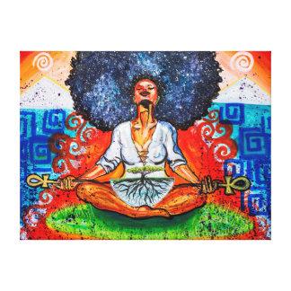 Nubian Kush Wrapped Canvas Print