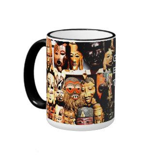 """Nubian Masks """"Get Busy"""" Ringer Mug"""