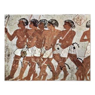 Nubian Mercenaries By Maler Der Grabkammer Des Zen Invites