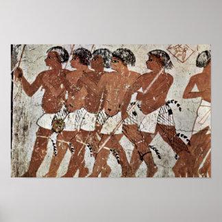Nubian Mercenaries By Maler Der Grabkammer Des Zen Poster
