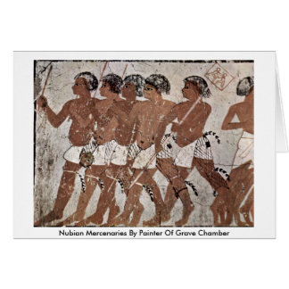 Nubian Mercenaries By Painter Of Grave Chamber Card